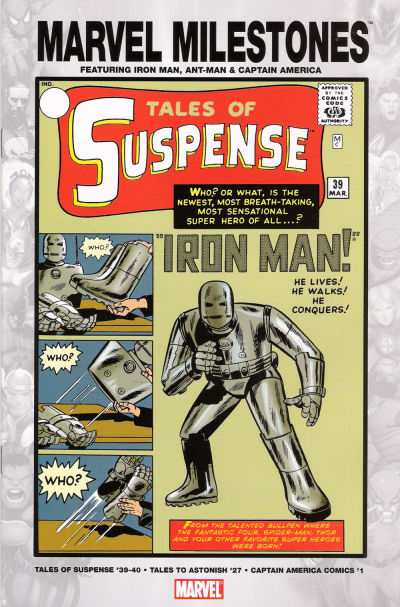 Marvel Milestones: Iron Man Ant-Man and Captain America comic books