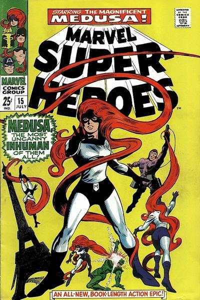 Marvel Super-Heroes #15 comic books - cover scans photos Marvel Super-Heroes #15 comic books - covers, picture gallery