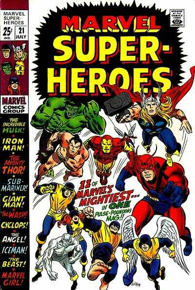 Marvel Super-Heroes #21 comic books - cover scans photos Marvel Super-Heroes #21 comic books - covers, picture gallery