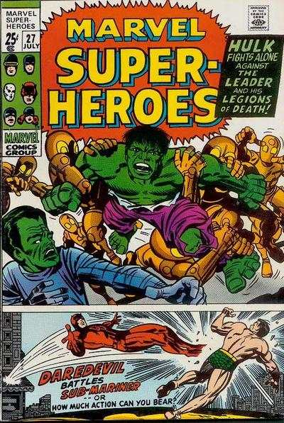 Marvel Super-Heroes #27 comic books - cover scans photos Marvel Super-Heroes #27 comic books - covers, picture gallery