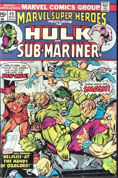 Marvel Super-Heroes #49 Comic Books - Covers, Scans, Photos  in Marvel Super-Heroes Comic Books - Covers, Scans, Gallery