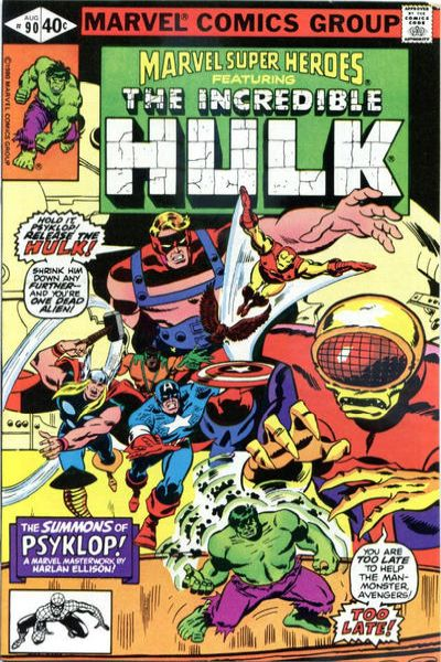 Marvel Super-Heroes #90 Comic Books - Covers, Scans, Photos  in Marvel Super-Heroes Comic Books - Covers, Scans, Gallery