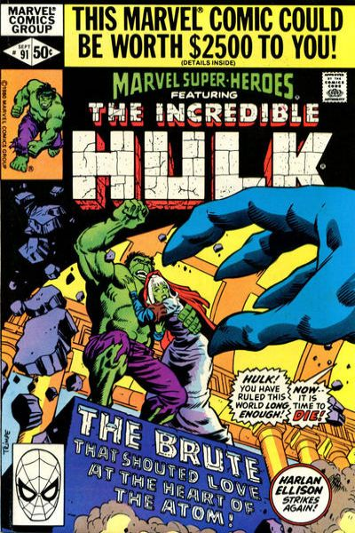 Marvel Super-Heroes #91 Comic Books - Covers, Scans, Photos  in Marvel Super-Heroes Comic Books - Covers, Scans, Gallery
