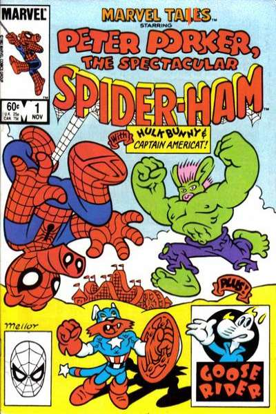 Marvel Tails Starring Peter Porker the Spectacular Spider-Ham #1 comic books - cover scans photos Marvel Tails Starring Peter Porker the Spectacular Spider-Ham #1 comic books - covers, picture gallery