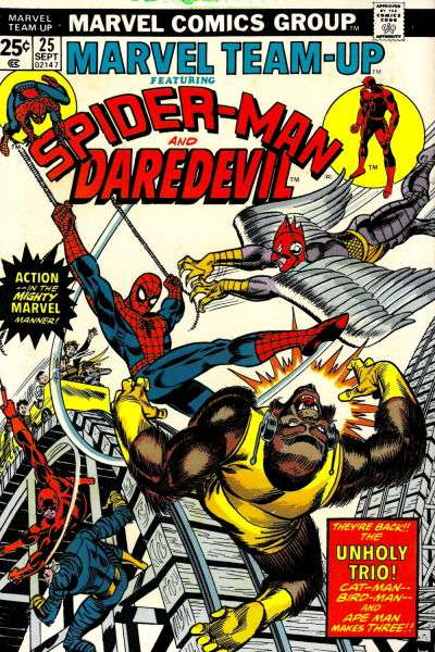 Marvel Team-Up #25 comic books - cover scans photos Marvel Team-Up #25 comic books - covers, picture gallery