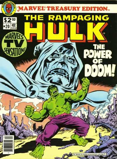 Marvel Treasury Edition #20 Comic Books - Covers, Scans, Photos  in Marvel Treasury Edition Comic Books - Covers, Scans, Gallery