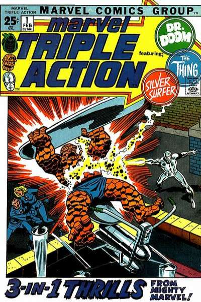Marvel Triple Action comic books