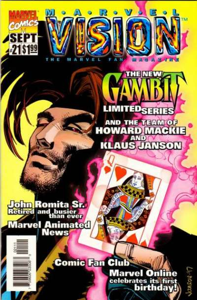 Marvel Vision #21 Comic Books - Covers, Scans, Photos  in Marvel Vision Comic Books - Covers, Scans, Gallery