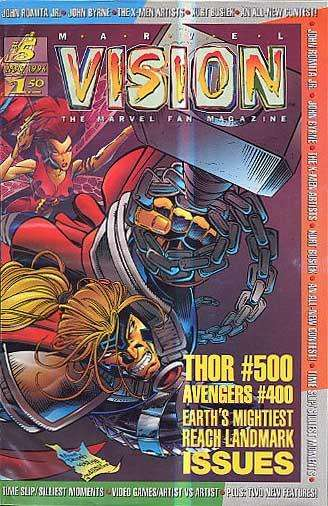 Marvel Vision #5 comic books - cover scans photos Marvel Vision #5 comic books - covers, picture gallery