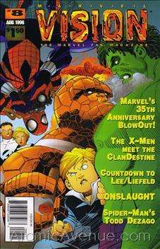 Marvel Vision #8 comic books - cover scans photos Marvel Vision #8 comic books - covers, picture gallery