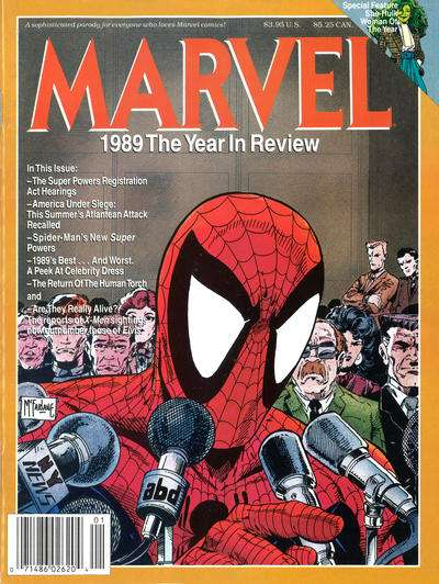 Marvel Year in Review '89 #1 comic books for sale