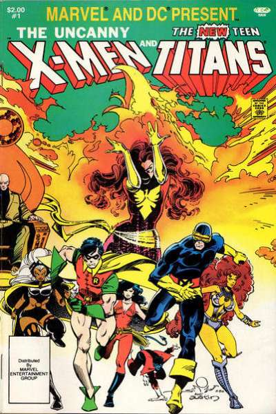 Marvel and DC Present featuring the Uncanny X-Men and the New Teen Titans Comic Books. Marvel and DC Present featuring the Uncanny X-Men and the New Teen Titans Comics.
