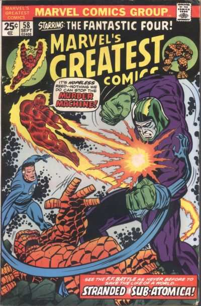 Marvel's Greatest Comics #58 comic books - cover scans photos Marvel's Greatest Comics #58 comic books - covers, picture gallery
