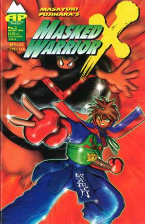 Masked Warrior X #3 comic books - cover scans photos Masked Warrior X #3 comic books - covers, picture gallery