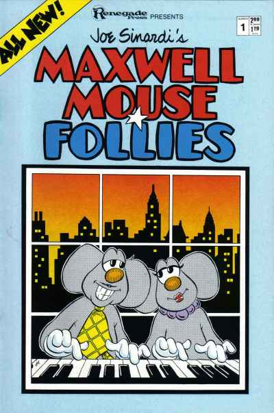 Maxwell Mouse Follies #1 comic books - cover scans photos Maxwell Mouse Follies #1 comic books - covers, picture gallery