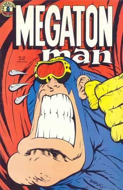 Megaton Man #10 comic books - cover scans photos Megaton Man #10 comic books - covers, picture gallery