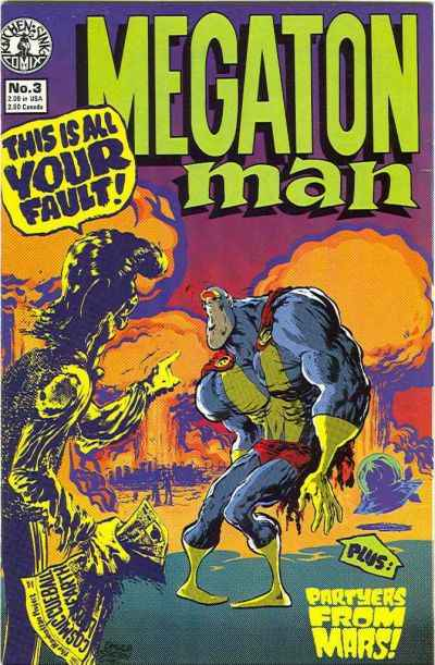 Megaton Man #3 comic books - cover scans photos Megaton Man #3 comic books - covers, picture gallery