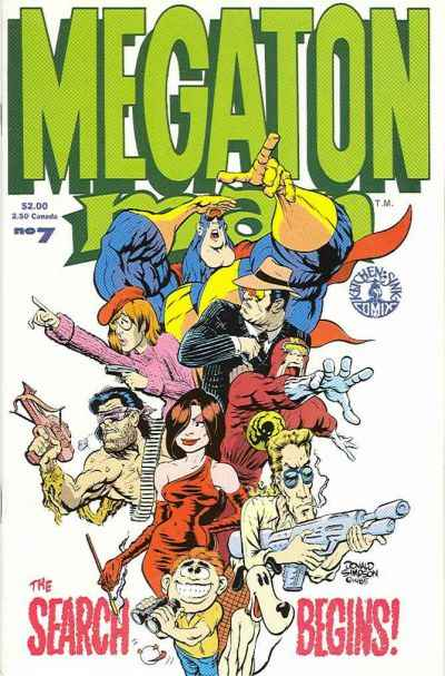Megaton Man #7 comic books - cover scans photos Megaton Man #7 comic books - covers, picture gallery
