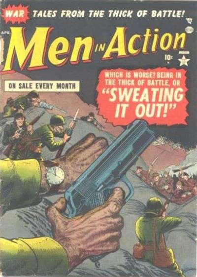 Men in Action Comic Books. Men in Action Comics.