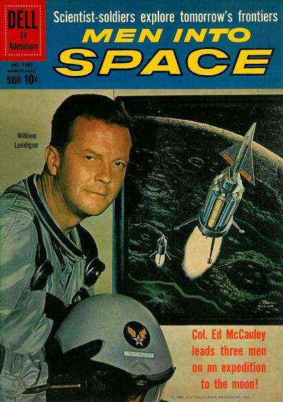 Men in Space #1 comic books - cover scans photos Men in Space #1 comic books - covers, picture gallery
