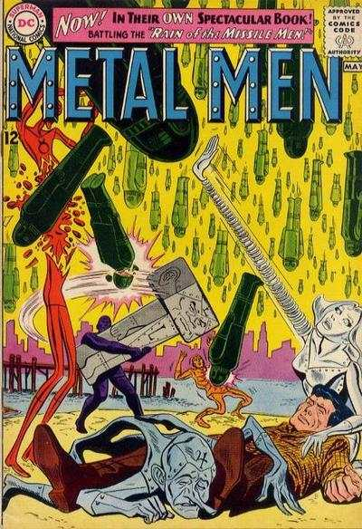 Metal Men Comic Books. Metal Men Comics.