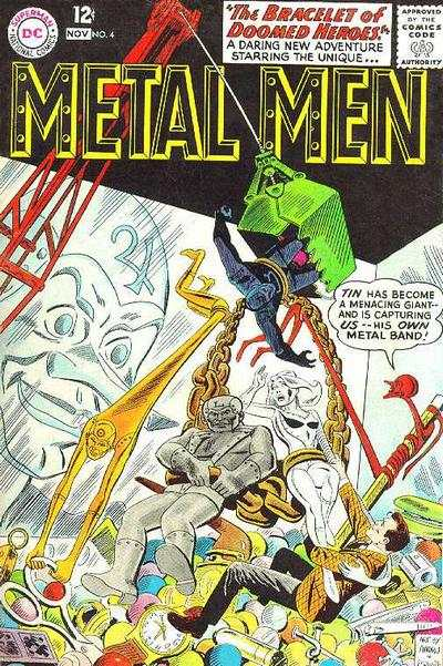 Metal Men #4 comic books - cover scans photos Metal Men #4 comic books - covers, picture gallery