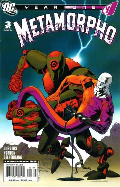 Metamorpho: Year One #3 comic books - cover scans photos Metamorpho: Year One #3 comic books - covers, picture gallery