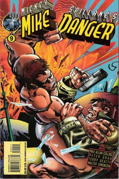 Mickey Spillane's Mike Danger #9 comic books - cover scans photos Mickey Spillane's Mike Danger #9 comic books - covers, picture gallery
