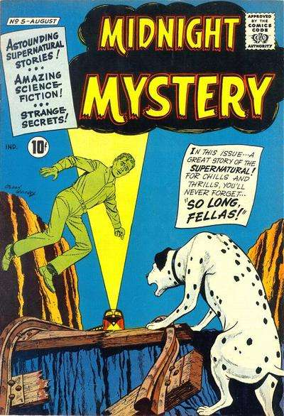 Midnight Mystery #5 Comic Books - Covers, Scans, Photos  in Midnight Mystery Comic Books - Covers, Scans, Gallery