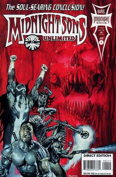 Midnight Sons Unlimited #4 comic books - cover scans photos Midnight Sons Unlimited #4 comic books - covers, picture gallery