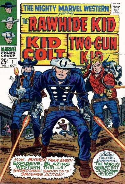 Mighty Marvel Western comic books