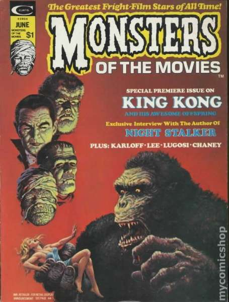 Monsters of the Movies comic books