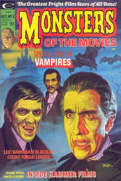 Monsters of the Movies #3 comic books for sale