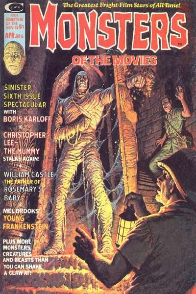Monsters of the Movies #6 comic books for sale