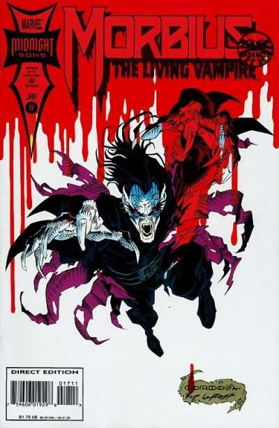 Morbius: The Living Vampire #17 comic books - cover scans photos Morbius: The Living Vampire #17 comic books - covers, picture gallery