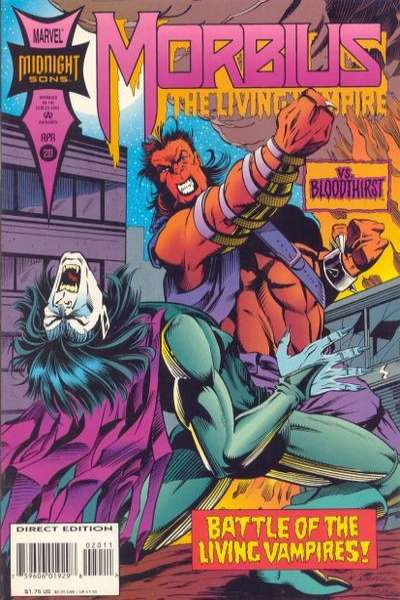 Morbius: The Living Vampire #20 comic books - cover scans photos Morbius: The Living Vampire #20 comic books - covers, picture gallery