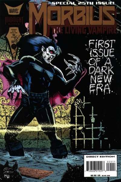 Morbius: The Living Vampire #25 comic books - cover scans photos Morbius: The Living Vampire #25 comic books - covers, picture gallery