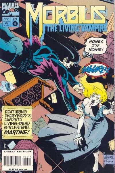 Morbius: The Living Vampire #26 Comic Books - Covers, Scans, Photos  in Morbius: The Living Vampire Comic Books - Covers, Scans, Gallery