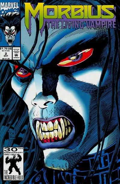 Morbius: The Living Vampire #2 comic books - cover scans photos Morbius: The Living Vampire #2 comic books - covers, picture gallery