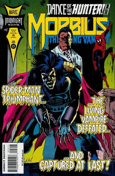 Morbius: The Living Vampire #23 comic books - cover scans photos Morbius: The Living Vampire #23 comic books - covers, picture gallery