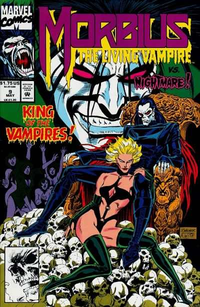 Morbius: The Living Vampire #9 comic books - cover scans photos Morbius: The Living Vampire #9 comic books - covers, picture gallery