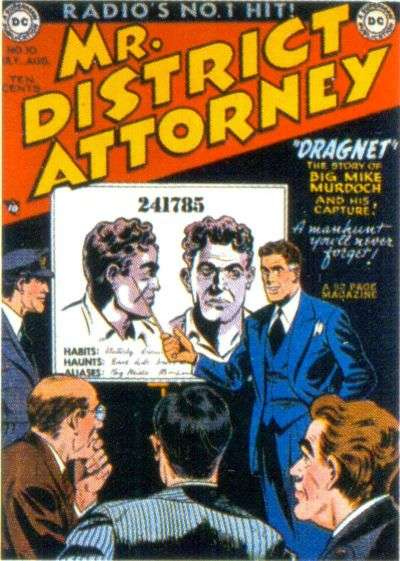 Mr. District Attorney #10 comic books for sale