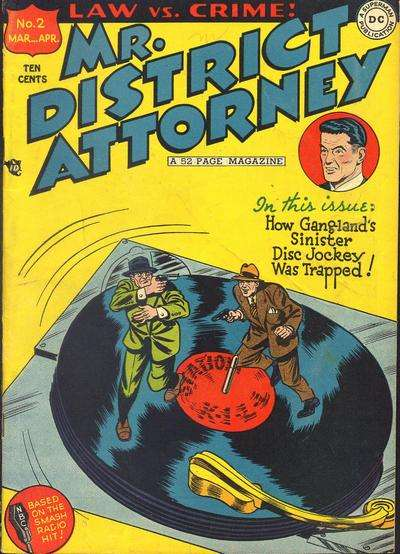 Mr. District Attorney #2 comic books for sale