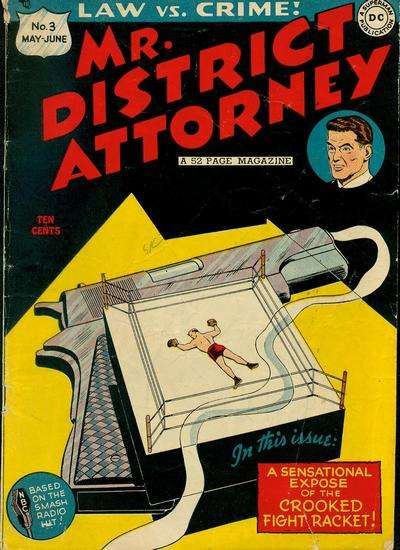 Mr. District Attorney #3 comic books for sale