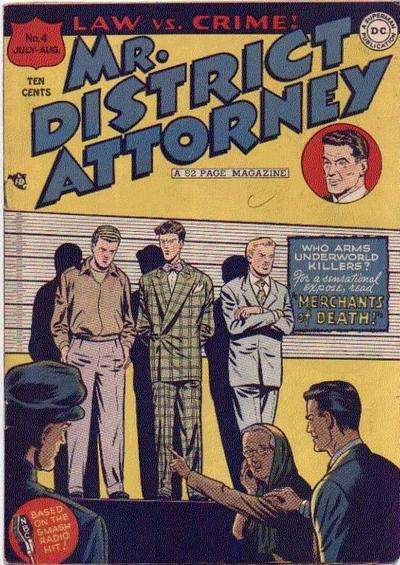 Mr. District Attorney #4 comic books for sale