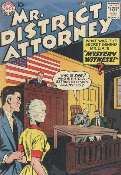 Mr. District Attorney #65 comic books - cover scans photos Mr. District Attorney #65 comic books - covers, picture gallery