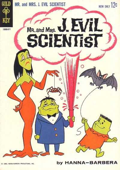 Mr. and Mrs. J. Evil Scientist comic books