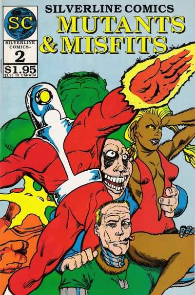 Mutants & Misfits #2 comic books - cover scans photos Mutants & Misfits #2 comic books - covers, picture gallery