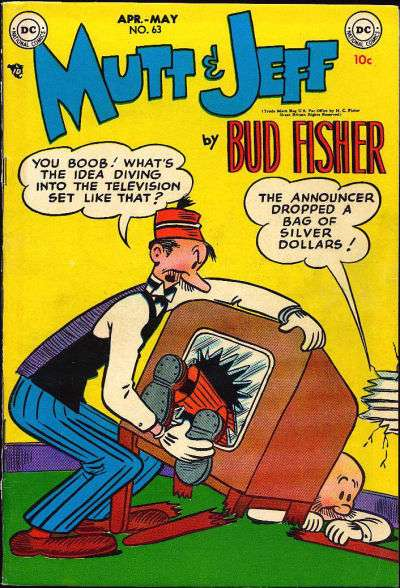 Mutt and Jeff #63 comic books - cover scans photos Mutt and Jeff #63 comic books - covers, picture gallery