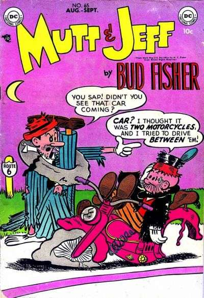 Mutt and Jeff #65 comic books - cover scans photos Mutt and Jeff #65 comic books - covers, picture gallery